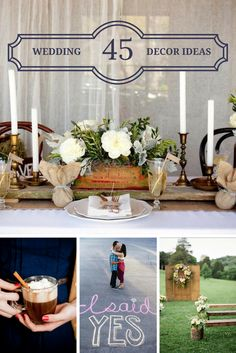 Tons of great #CountryWedding decor ideas! >> http://www.greatamericancountry.com/living/lifestyles/country-wedding-decor-pictures?soc=pinterest