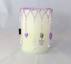 Candle bead covers. 3 X 4 candles.  Beaded covers to by SueMatzke