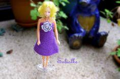 Puppenkleidung - ROCKtober *** Minikleid mit Blüte für Barbie - ein…