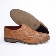 The Modfather Clothing Company Ladies Brogues, Tan Woman, Clothing Company, Oxford Shoes, Dress Shoes, Lace Up, Slip On, Flats, Sneakers