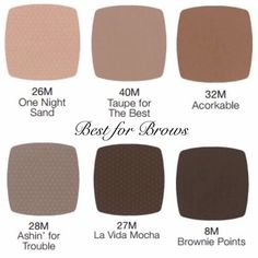 Brow colors by LimeLight. http://www.limelightbyalcone.com/christinesantori