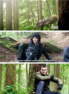 SUPER excited for them to be back on Lian Yu! Thea and Ollie there and he's back and that's so cool to me!