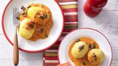 Rezept: Kartoffeln in Paprika-Rahmsauce