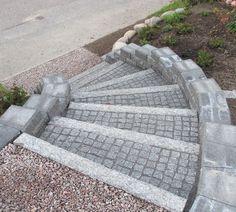 kiviportaat - Google-haku Stepping Stones, Balcony, Concrete, Garden Ideas, Patio, Dreams, Flower, Google, Outdoor Decor