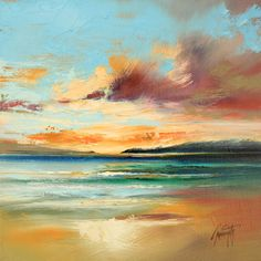 """Oil on Canvas Original size 30 x 30cm Watch it being painted in the studio on YOUTUBE demonstration: """"Oil Painting Demonstration: Tiree Beach Study"""" scottnaismith.co.uk www.scottnaismith.co.uk"""