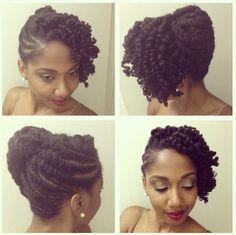 Natural hair Updos.