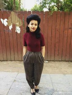 A modern twist on classic chola, keeping the hair fly and the clothes slick