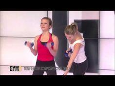 Tonifier son corps avec des haltères - Renforcement musculaire - 140 - YouTube #tonificar #cuerpo #fitness #gym #woman