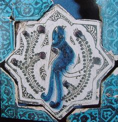 Turkish Seljuk Star Shaped Bird Design Tile From Kubadabad Palace Konya Turkish Art, Turkish Tiles, Islamic Tiles, Islamic Art, Antique Tiles, Antique Art, Iranian Art, Panel Art, Bird Design