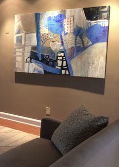 'Bold Blues' hangs in a private collection in Short Hills NJ By Dorothy Ganek
