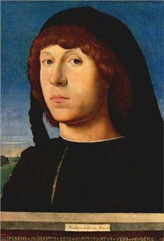 Portrait of a Young Man - Antonello da Messina.  1478.  Oil on panel.  21 x 15 cm.  Gemaldegalerie, Staatliche Museen zu Berlin, Berlin, Germany.