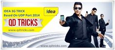Idea 3g trick - udp - port 2014 working in most states of india. #idea #3g #tricks