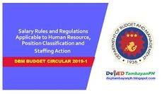 DBM releases Salary Rules and Regulations Applicable to Human Resource, Position Classification and Staffing Action Civil Service, The Agency, Human Resources, Budgeting, Action, Positivity, Group Action, Budget Organization