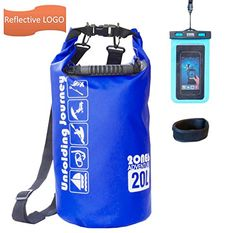Best Waterproof Dry Bag 20L Keep Your Things Dry With Should Strap Phone Bag Included Reflective LOGO Perfect for Kayaking Fishing Boating Canoeing Beach Camping By 2ONE6 Adventure *** Check this awesome product by going to the link at the image. Note:It is Affiliate Link to Amazon.