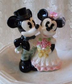 Vintage Mickey & Mini Mouse Disney in Paris Wedding Cake Topper  TheWareHouseShelf We Ship Internationally