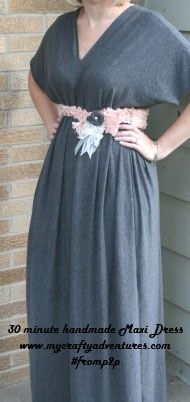 30 Minute Maxi dress from a pin I have on my sewing pin board.  Super easy and it was super comfy too!
