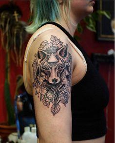 #blackandgrey #fox #tattoo
