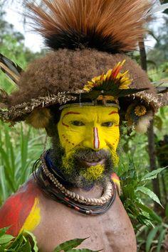 Papua New Guinea « Nadler Photography Portfolio: Cultural & Travel Photographs   Huli Wigman at Mt. Ambua SingSing