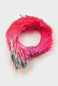 Lauren Clay Colorful Acrylic on Cut Paper Sculptures