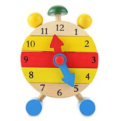 8b79a2e3cfc   50% Off   SUKIToy Kids classic Toys hobbies Wooden Montessori Clock Block  Learning Education