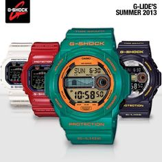 #G-SHOCK DEBUTS A NEW SELECTION OF THE G-LIDE SERIES FOR SUMMER 2013!