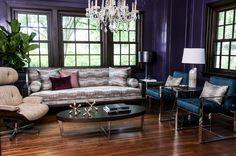 Haute Interiors: Fresh, avant-garde and energetic, S. Harris delivers unique, lavish and distinct fabrics for modern spaces. Exterior Design, Interior And Exterior, Modern Spaces, Fabric Decor, Modern Interior, Branding Design, Fashion Inspiration, Upholstery, Fabrics
