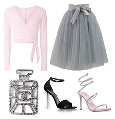 """Untitled #953"" by georgina2610 on Polyvore featuring Chanel, Ballet Beautiful, Chicwish and René Caovilla"