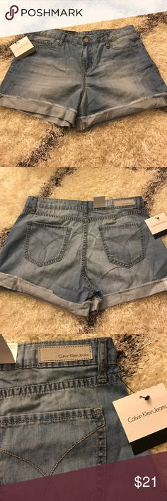 Calvin Klein denim shorts Chambray denim , thin denim material CK denim shorts. NWT. Calvin Klein Jeans Shorts Jean Shorts