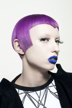 #ukhairdressers #inspireme Purple perfection - has inspired a million cuts. Fantastic make up too