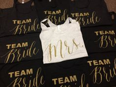 Bulk Team Bride Bridal Party Tank Tops