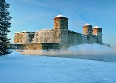 Olavinlinna Castle in Savonlinna. #Finland #Travel