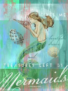 (Personalized) - Mermaid Gallery Wrapped Canvas