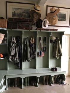 metal barn homes vintage muted mud room Mudroom Laundry Room, Laundry Room Design, Bench Mudroom, Boot Room Utility, Bench With Storage, Diy Home, House 2, Home Design, Floor Design