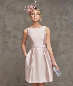 Más de 50 vestidos de fiesta Primavera Verano 2016 Pronovias  Raso Vestidos  De Cocktail 2016 53f001c33bed