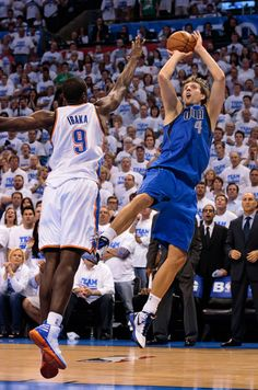 Dirk Nowitzki #41 on the Dallas Mavericks. Always a favorite of fans as he continues to be a powerful force to be reckoned with on the court.  Get ready for another great season with the Mavericks!  Tickets available now for every game of the season.www.findaballer.com