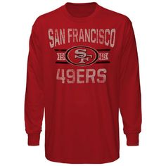 145a2491eb9  47 Brand San Francisco 49ers Scrum Long Sleeve T-Shirt - Scarlet