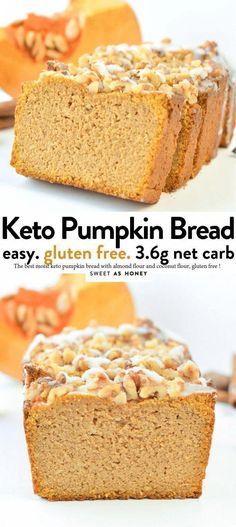 Keto Bread Recipe Air Fryer #BestKetoBread Easy Cake Recipes, Pumpkin Recipes, Keto Recipes, Bread Recipes, Healthy Recipes, Protein Recipes, Coconut Flour Bread, Almond Flour Recipes, Almond Bread