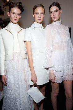 Valentino Threw NYC's Biggest, Most Beautiful Wedding, & Everyone Came #refinery29  http://www.refinery29.com/valentino-haute-couture-2015#slide-15  A trio in white.