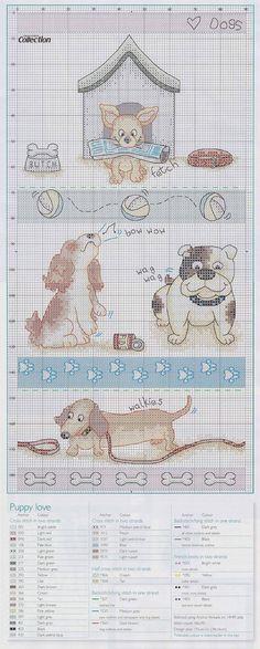 Portale Punto croce: Appassionato di cani.