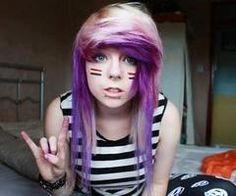 peace - Created with BeFunky Photo Editor Purple Blonde Hair, Green Hair, Emo Scene Hair, Alternative Hair, Alternative Fashion, Coloured Hair, Scene Girls, Dye My Hair, Hair Looks