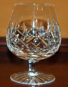 Waterford Crystal Brandy Snifter, Lismore pattern. Simply the best.