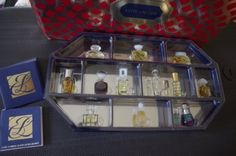 """Estee Lauder """"House of Fragrance"""" Twelve (12) Piece Collectible Parfum Perfume Gift Set + Mirrored Display Case - Limited Edition!!! by Estee Lauder. $120.00. Comes in a Very Nice Mirrored Display Case and Gift Box. Estee Fragrance, Private Collection Parfum, Cinnabar Fragrance, Aliage Fragrance & Azuree Fragrance. Includes Twelve (12) Collectible Parfums - Pleasured parfum, Beyond Paradise EDP Spray. This is Limited Edition Very Collectible Parfum from Estee Lauder House of F..."""