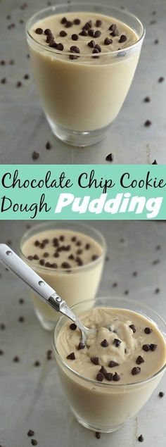 The Cooking Actress: Chocolate Chip Cookie Dough Pudding. An easy recipe for from-scratch pudding that tastes like cookie dough!
