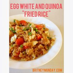 "Egg White and Quinoa ""Fried Rice"" Recipe"