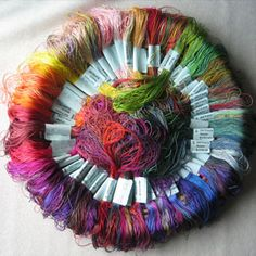 Stef Francis' space dyed threads.