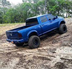 Blue Lowered Trucks, Lifted Ford Trucks, Ram Trucks, Jeep Truck, Diesel Trucks, Cool Trucks, Pickup Trucks, Lifted Dodge, Chevy Trucks