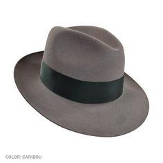 d920f7be4f3dc Stetson Temple Fur Felt Fedora Hat (Caribou Grey) Men s Hats