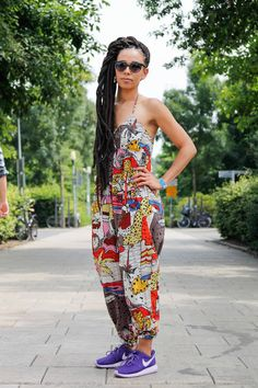 african print jumpsuit- that's hot