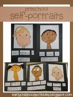 Early Childhood Scribbles: Preschool Self-Portraits
