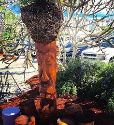 Low Key Tiki, Saint James City, Florida #lowkeytiki Cool Tiki Dude outside the patio. #ilovetravel